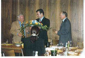 Willi Hauck, Dr. Klaus Kinkel. Günther Malisius