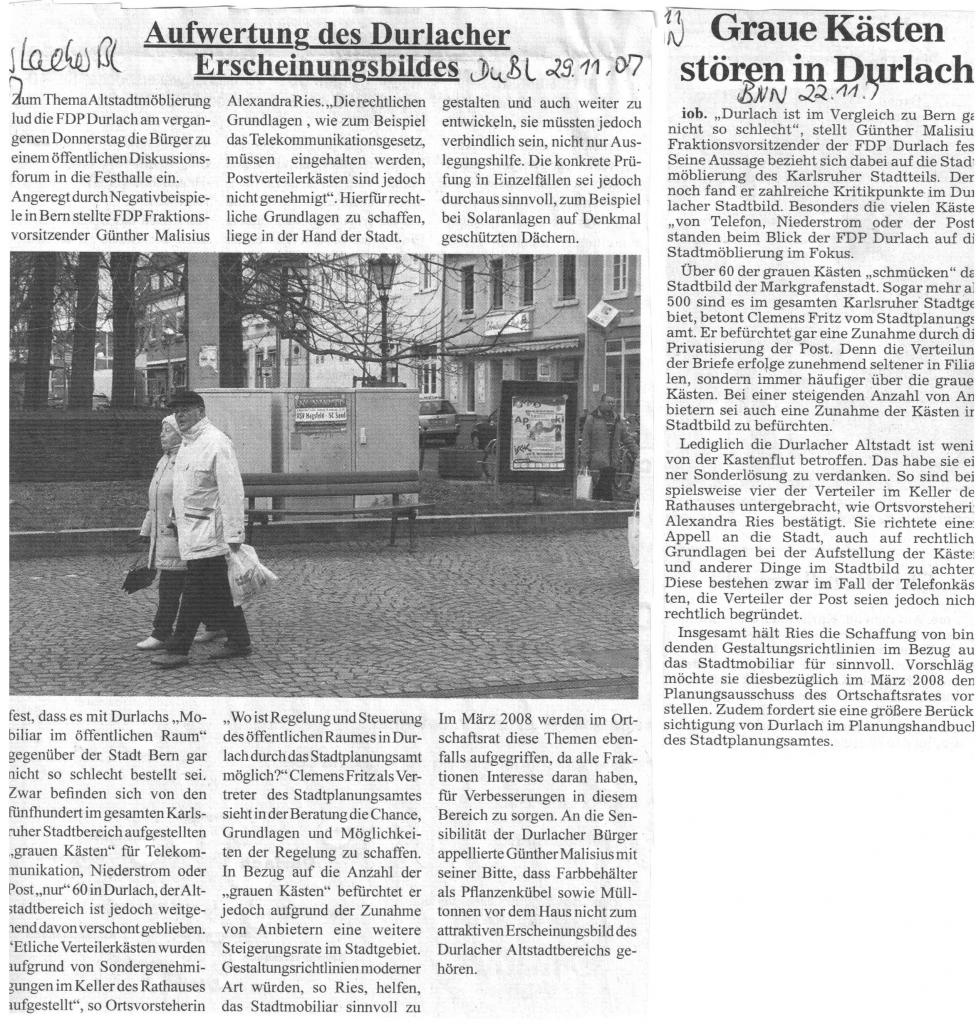 Durlacher Blatt und Badische Neuste Nachrichten